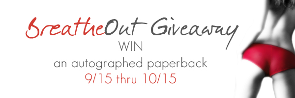 Breathe Out by Martha Sweeney book giveaway