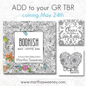 Bookish: Adult Coloring Book by Martha Sweeney releases May 24