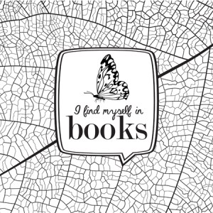 Bookish: Adult Coloring Book by Martha Sweeney i find myself in books coloring page