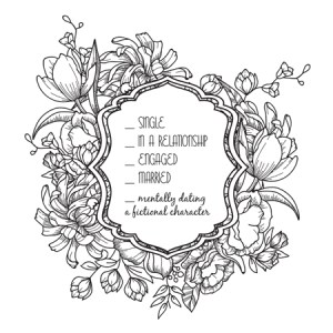 Bookish: Adult Coloring Book by Martha Sweeney mentally dating a fictional character coloring page