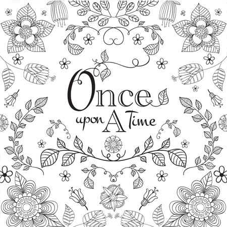 Bookish: Adult Coloring Book by Martha Sweeney once upon a