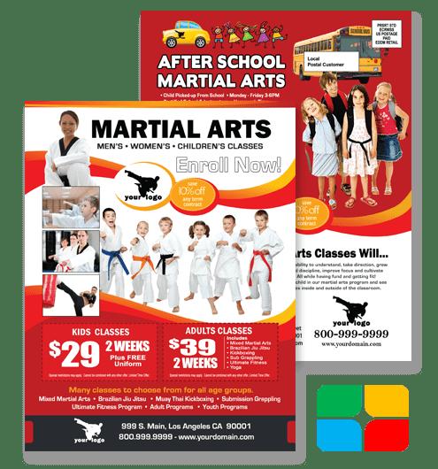 Martial Arts Flyers Business Cards Brochures Door
