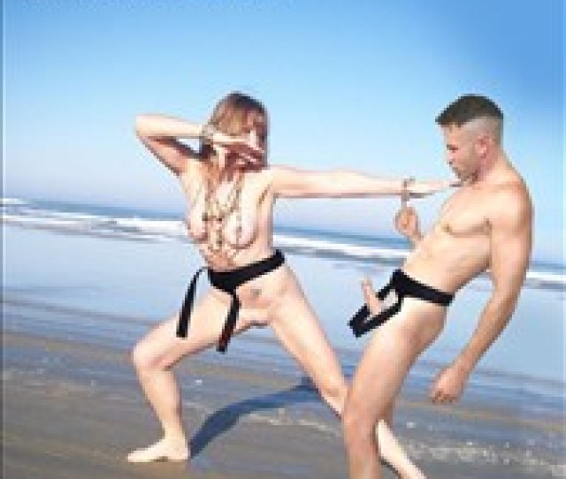 Hot Woman Self Defense 11 Naked Karate Woman Fighting In The Beach