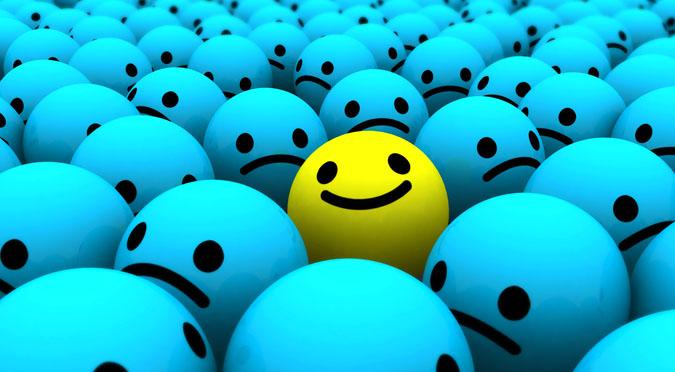 Yellow happy face, Positivity