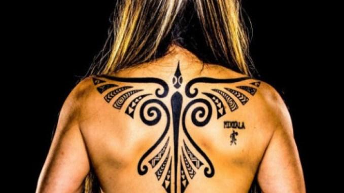 Michelle Manu Hawaiian Lua Hardwood Maka Pahoa w//Rope Polynesian martial arts