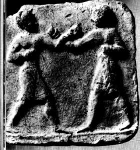 Rilievo in terracotta della Mesopotamia