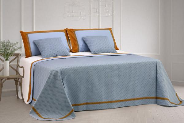 composè letto copriletto matrimoniale rifinito balza coppia lenzuola coppia cuscini