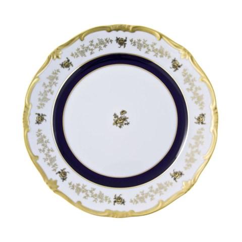 Set Piatti in porcellana made in Germany decoro mano oro e cobalto Anna Amalia