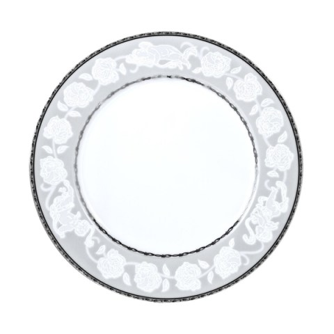 Piatto singolo in porcellana con decoro Angeli filo platino