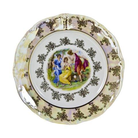piatto-singolo-porcellana-decoro-mano-oro-immagine-giulia