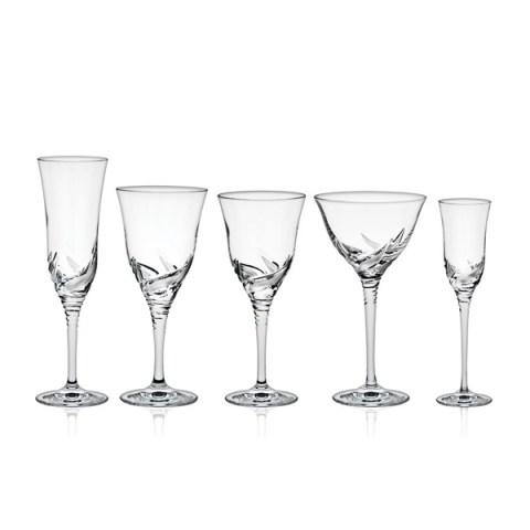 Servizio di Bicchieri dal Design Moderno in Cristallo con Incisione realizzata a mano Tulipano