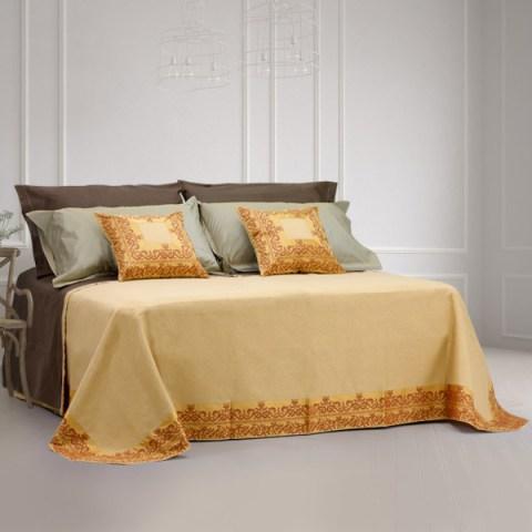 coordinato letto a 2 piazze gilda oro balzato martica