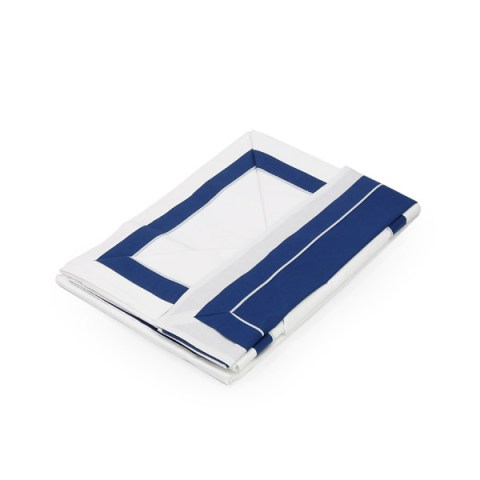 Coppia lenzuola blu con balza