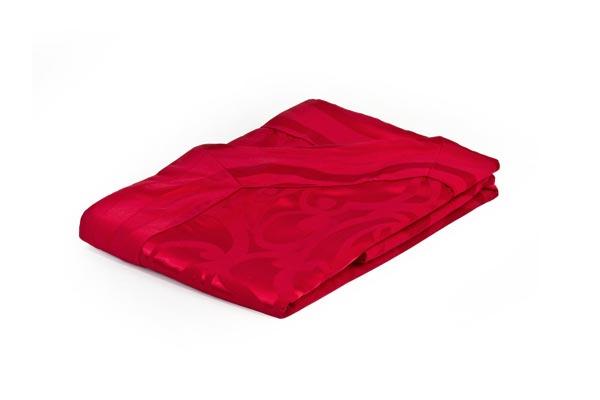 Copriletto damascato Rosso - Divina