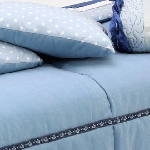 Trapunta jeans cuscini