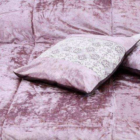 Trapunta rosa antico velluto