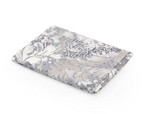 Coppia lenzuola con motivo Floreale colore Grigio in cotone - Malaga