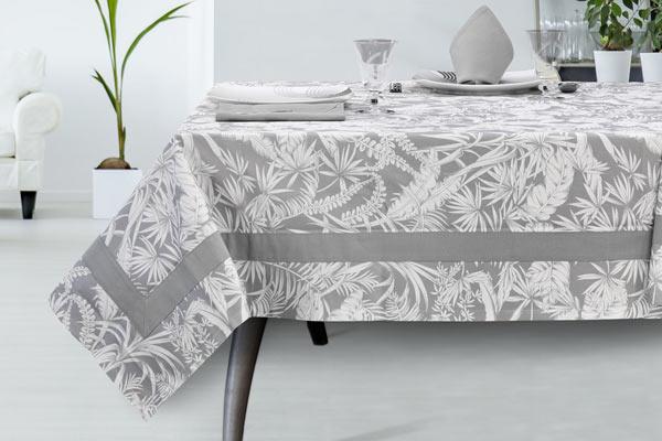 Tovaglia colore grigio tessuto panama cotone - Palma