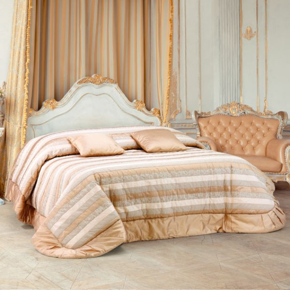 Trapunta Matrimoniale Classica.Trapunta Invernale Colore Rosa Antico Seta Patchwork Righe