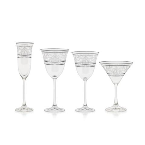 Servizio bicchieri inciso con decorazione filo platino - Versailles