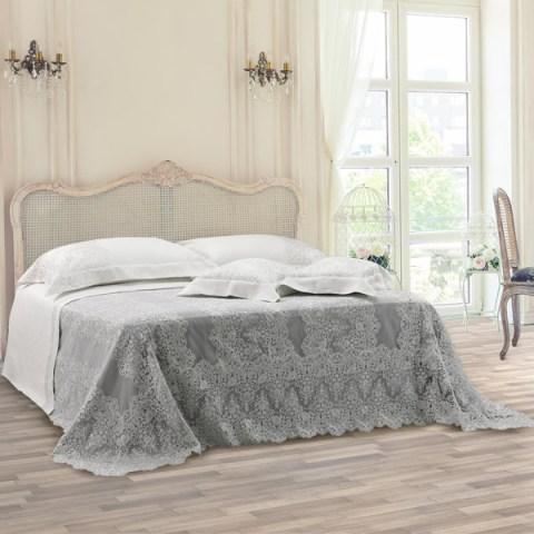 Collezione primo letto sposa pizzo tulle ricamato argento - Caterina
