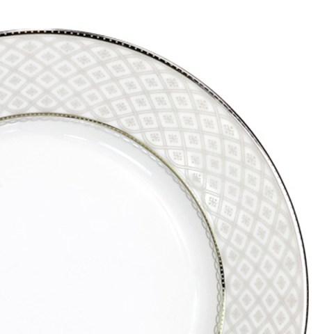 Servizio piatti con decoro filo platino - Carisma