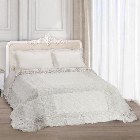 Trapuntino primo letto puro lino beige - Giulia