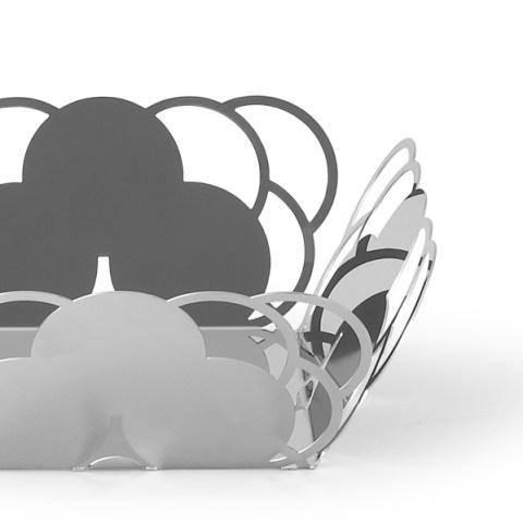 Cestino specchio design elegante acciaio inox cosmo