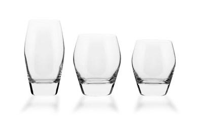 Completo bicchieri basso forma bombata liscia 38 pezzi - Michelle