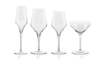 Completo bicchieri liscio moderno 50 pezzi - Sabrina