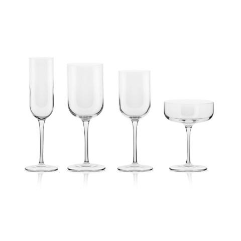 Servizio bicchieri 50 pezzi dal design lineare - Letizia