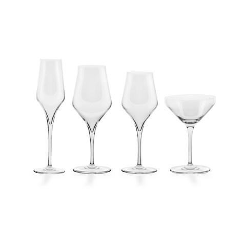 Servizio bicchieri liscio moderno 50 pezzi - Sabrina