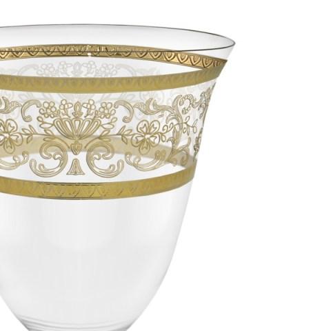 Servizio calici classici decorati in oro 50 pezzi - Royal