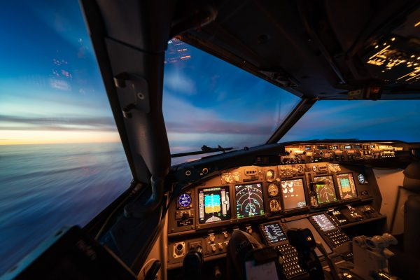 Boeing 737 sunrise