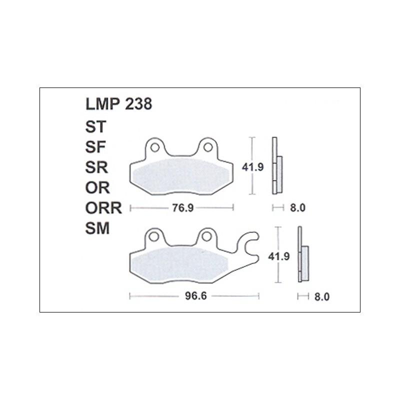 AP BRAKE PAD LMP238