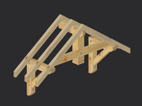 construction auvent structure bois