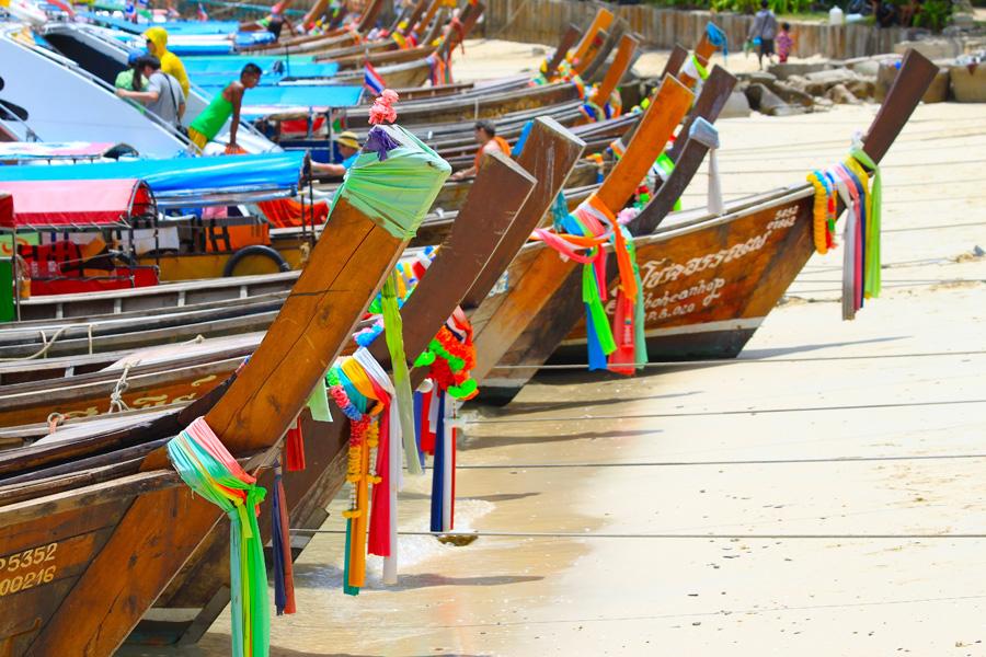 © Martina Miethig, Thailand, Ko Phi Phi Ton, Sai Boote