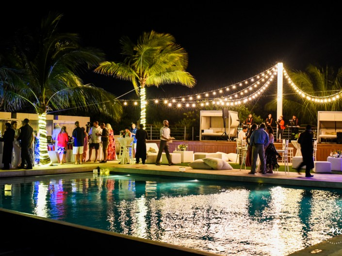 Rooftop wedding reception at Blue Diamond Riviera Maya, Mexico. Martina Campolo Photography