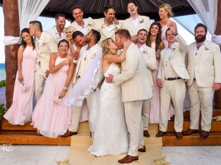 Fun Hilton Playa del Carmen Wedding