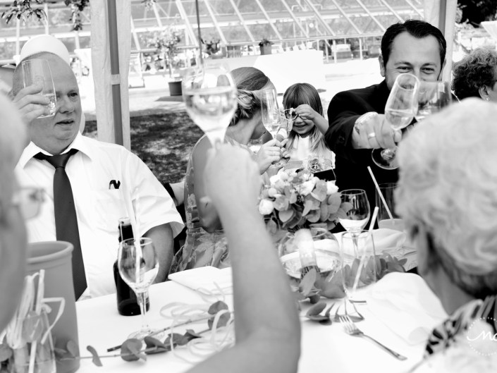 Wedding toast. Intimate Heidelberg Wedding in Germany. Martina Campolo Photography