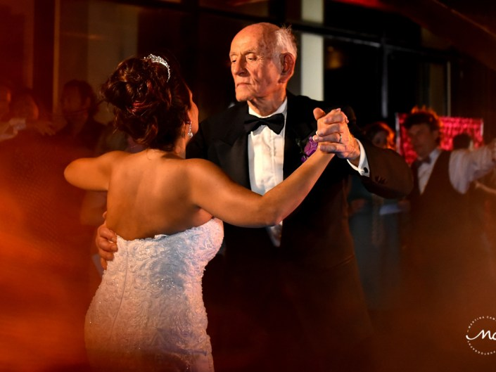 Bride and father dance at Now Sapphire Riviera Cancun, Mexico. Martina Campolo Photography