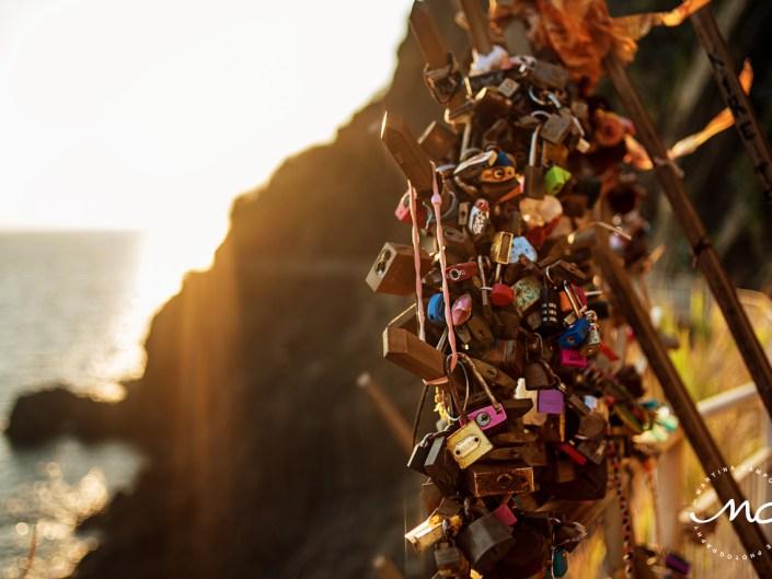 Locks of love. Cinque Terre, Italy. Martina Campolo Italian Love Photography