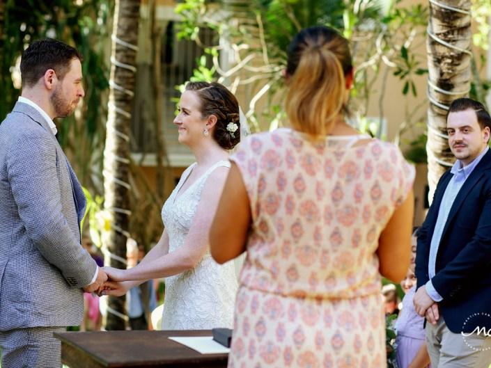 Wedding ceremony moment at Hacienda del Mar, Riviera Maya, Mexico. Martina Campolo Photography