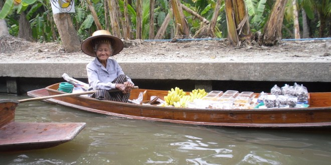That time I visited a floating market