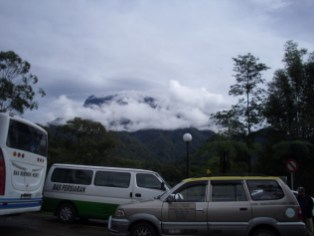My first sight of Kinabalu