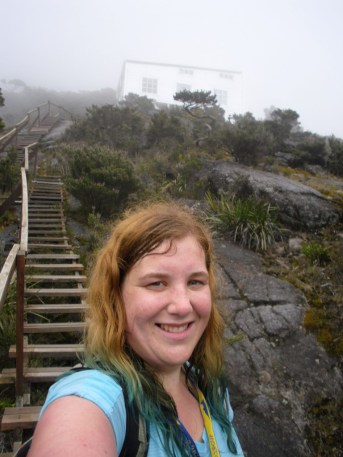 Finally made it to Laban Rata! That's Pendant Hut behind me.