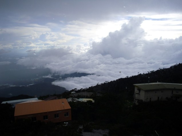 Clouds changing fast in Laban Rata