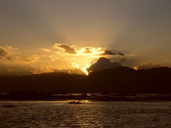 Sunset over Inle Lake