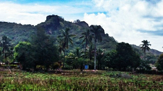Pretty rugged mountains near Labasa, Fiji