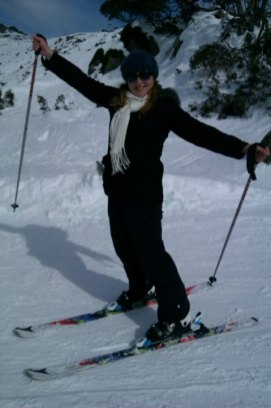 Me skiing at Charlottes Pass in Australia - yes, skiing in Australia. It's a thing.